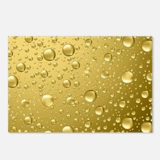 Metallic Gold Abstract Ra Postcards (Package of 8)