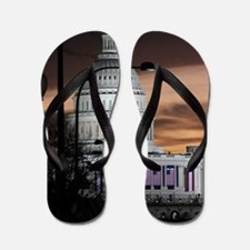 United States Capitol Building at Dusk Flip Flops