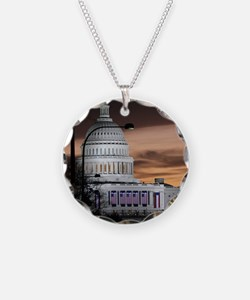 United States Capitol Buildi Necklace