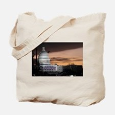 United States Capitol Building at Dusk Tote Bag
