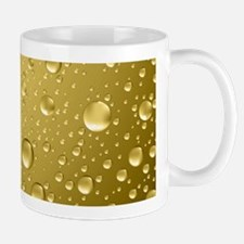 Metallic Gold Abstract Rain Drops Mugs