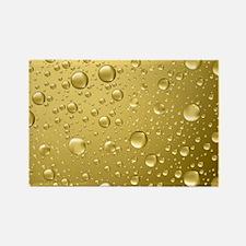 Metallic Gold Abstract Rain Drops Magnets