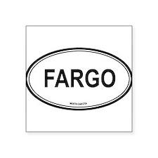 "Cute Fargo north dakota Square Sticker 3"" x 3"""