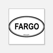 """Cute Fargo Square Sticker 3"""" x 3"""""""