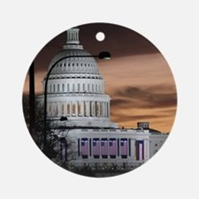 United States Capitol Building at D Round Ornament