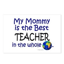 Best Teacher In The World (Mommy) Postcards (Packa