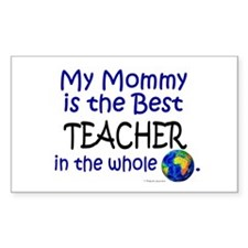 Best Teacher In The World (Mommy) Decal