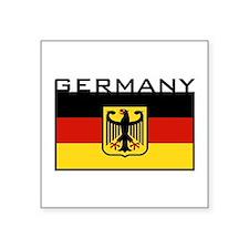 """Unique Deutsch Square Sticker 3"""" x 3"""""""