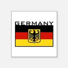 "Funny German Square Sticker 3"" x 3"""