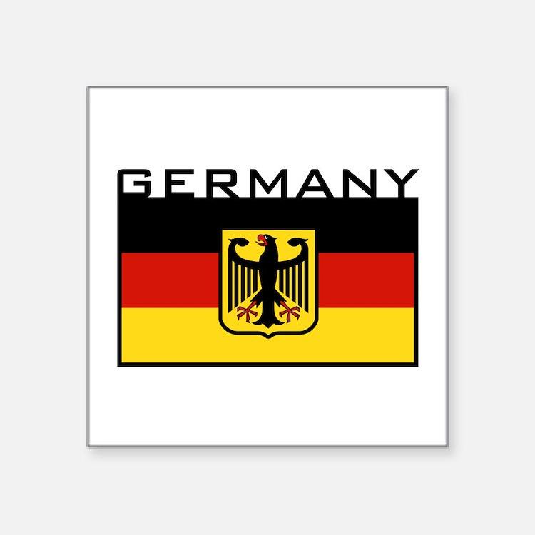 "Cute I love germany Square Sticker 3"" x 3"""
