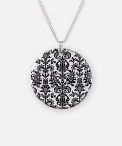 Cute Black damask Necklace