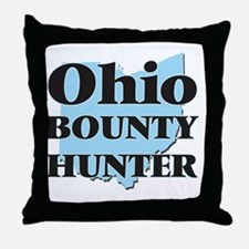 Ohio Bounty Hunter Throw Pillow