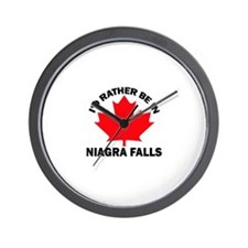 I'd Rather Be in Niagra Falls Wall Clock