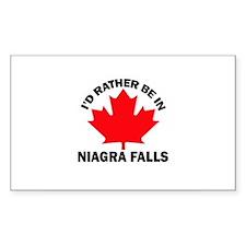 I'd Rather Be in Niagra Falls Sticker (Rectangular