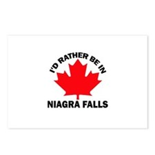 I'd Rather Be in Niagra Falls Postcards (Package o