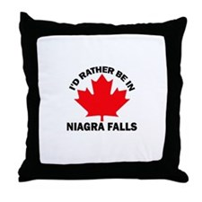 I'd Rather Be in Niagra Falls Throw Pillow