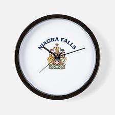 Niagra Falls Coat of Arms Wall Clock