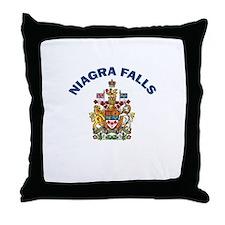 Niagra Falls Coat of Arms Throw Pillow