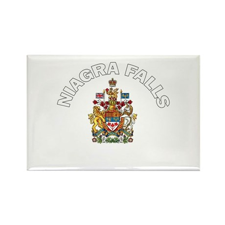 Niagra Falls Coat of Arms Rectangle Magnet (100 pa