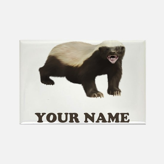 Custom Badger (YOUR NAME) Magnets