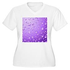 Metallic Purple Abstract Rain Dr Plus Size T-Shirt