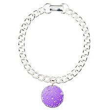 Metallic Purple Abstract Charm Bracelet, One Charm
