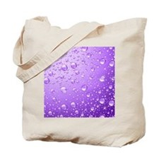 Metallic Purple Abstract Rain Drops Tote Bag