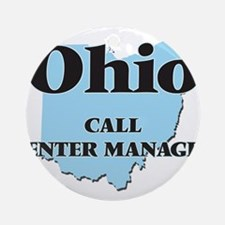 Ohio Call Center Manager Round Ornament