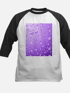Metallic Purple Abstract Rain Drop Baseball Jersey