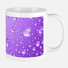 Metallic Purple Abstract Rain Drops Mugs