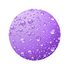 Metallic Purple Abstract Rain Drops Button