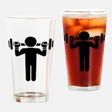 Weightlifter Drinking Glass