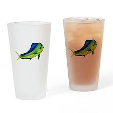 Bull Mahi Mahi Drinking Glass