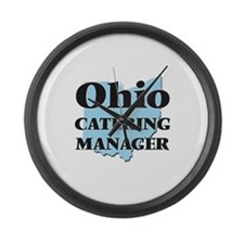 Ohio Catering Manager Large Wall Clock