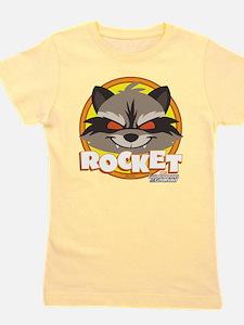 GOTG Animated Rocket Cute Girl's Tee