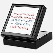 DR. BEN CARSON FOR PRESIDENT Keepsake Box