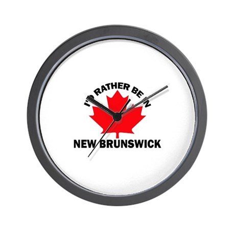 I'd Rather Be in New Brunswic Wall Clock