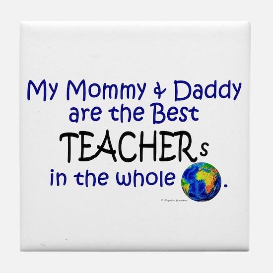 Best Teachers In The World Tile Coaster