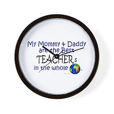 Best Teachers In The World Wall Clock