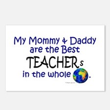 Best Teachers In The World Postcards (Package of 8