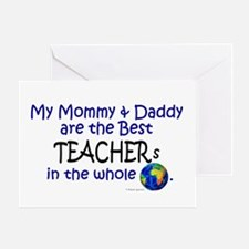 Best Teachers In The World Greeting Card