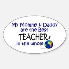 Best Teachers In The World Oval Decal