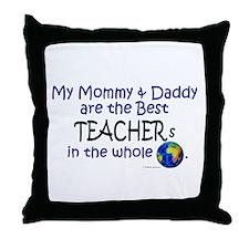 Best Teachers In The World Throw Pillow