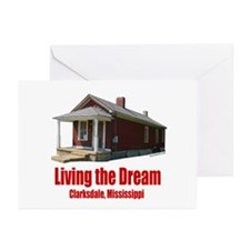 Living the Dream Clarksdale Greeting Cards (Pk of