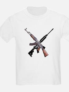 AK-47 and Bushmaster AR-15 T-Shirt