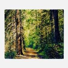 Sunlit Trail Throw Blanket