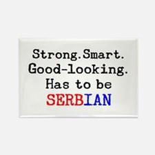 be serbian Rectangle Magnet