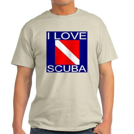 I Love Scuba Light T-Shirt