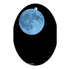 Once in a Blue Moon Oval Ornament