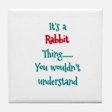 Rabbit Thing Tile Coaster